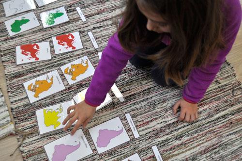 Material geografia Montessori