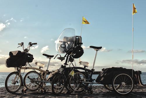 Las bicis con las que han recorrido medio mundo